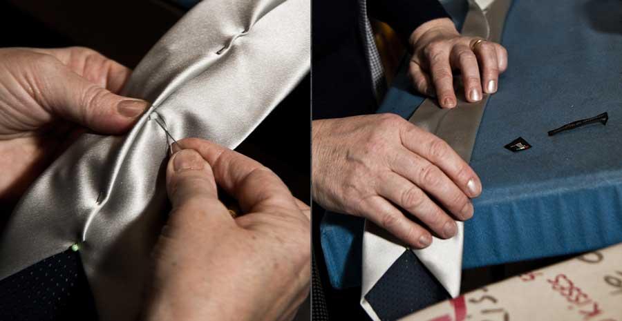 Realizzazione di una cravatta fatta a mano - foto: lambertoconti.it